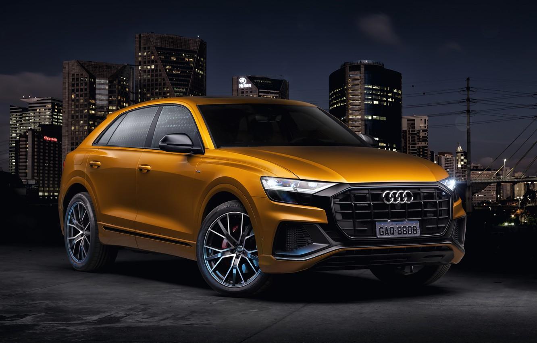 Фото обои Audi, quattro, TFSI, S line, 2019, Q8 55