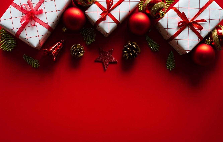 Фото обои украшения, шары, Новый Год, Рождество, подарки, Christmas, balls, New Year, gift, decoration, Merry