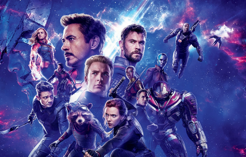 Фото обои космос, фон, фантастика, Scarlett Johansson, Скарлетт Йоханссон, Hulk, постер, персонажи, Nebula, Iron Man, комикс, Captain …