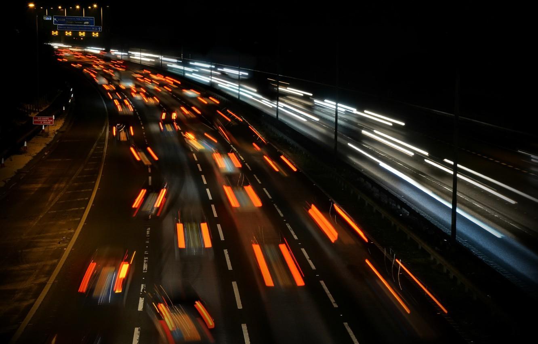Обои дорога, ночь, огни. Разное foto 12