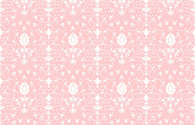 Фото обои цветы, текстура, орнамент, розовый фон