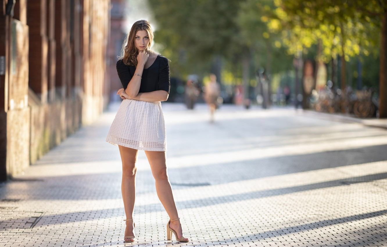 Фото обои девушка, улица, Tiffanie