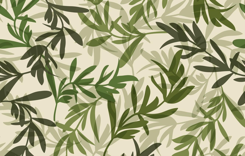 Фото обои листья, зеленый, фон, узор, macrovector