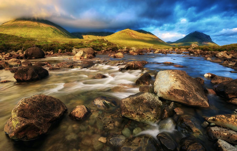Фото обои Шотландия, Scotland, Isle of Skye