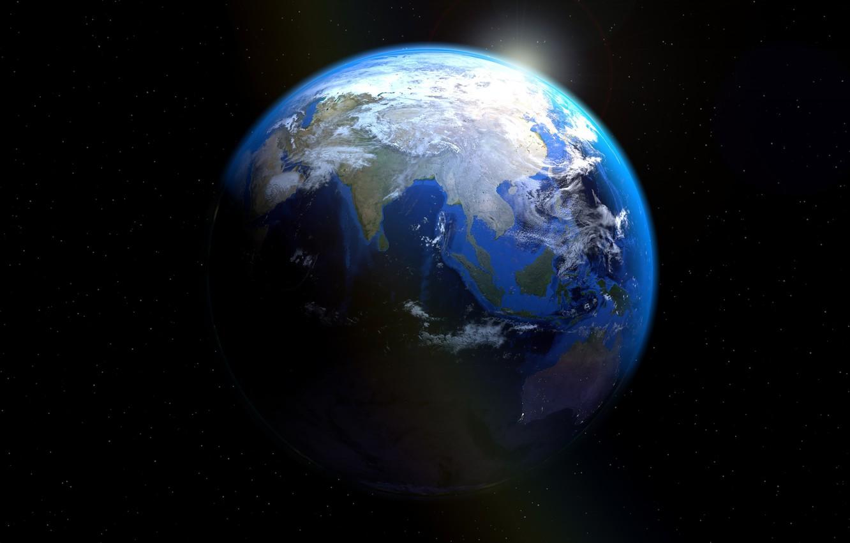 Фото обои планета, Земля, континенты