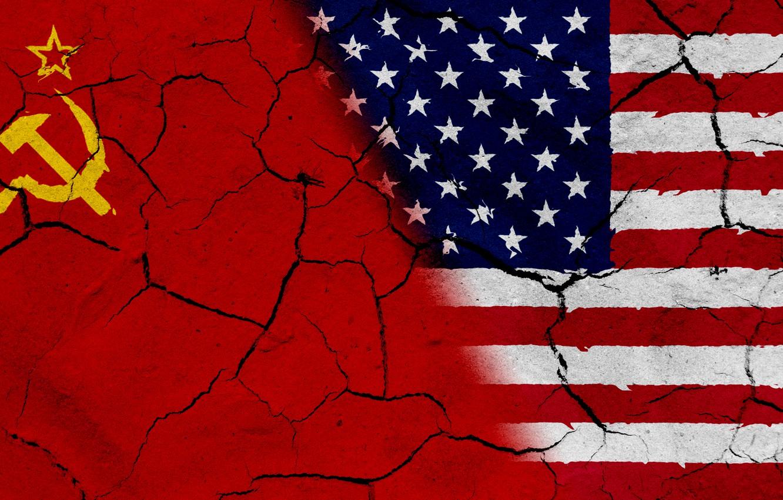 Фото обои China, wall, USA, Flag