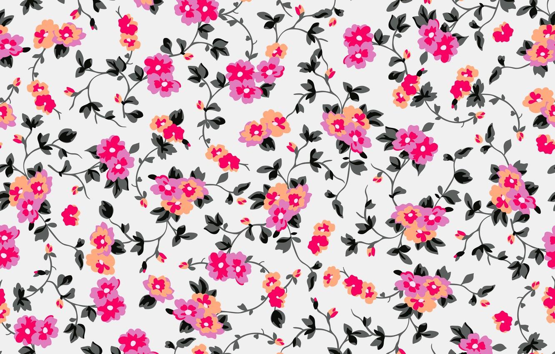 Фото обои фон, рисунок, colorful, орнамент, pink, flowers, цветочный, background, pattern, floral