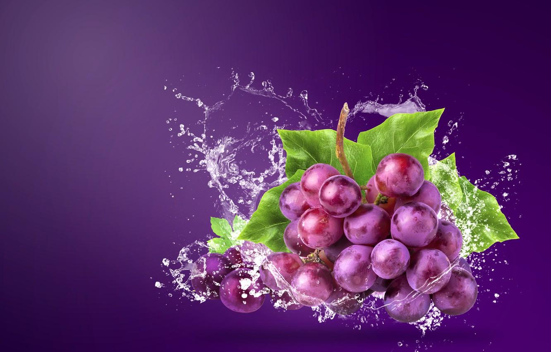 Фото обои вода, брызги, фон, виноград, гроздь