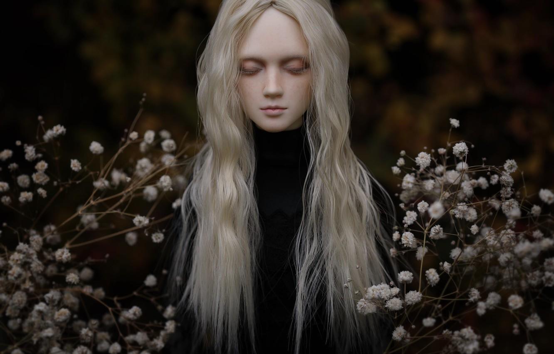 Обои цветы, Кукла, девушка, волосы. Разное foto 13