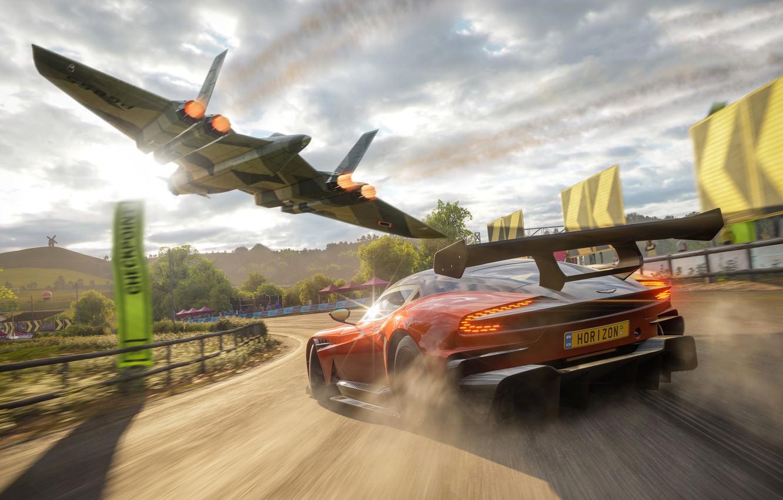 Фото обои Aston Martin, Microsoft, 2018, Vulcan, Forza Horizon 4