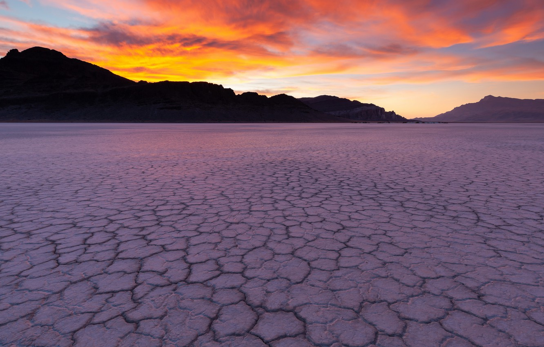 Фото обои закат, природа, пустыня