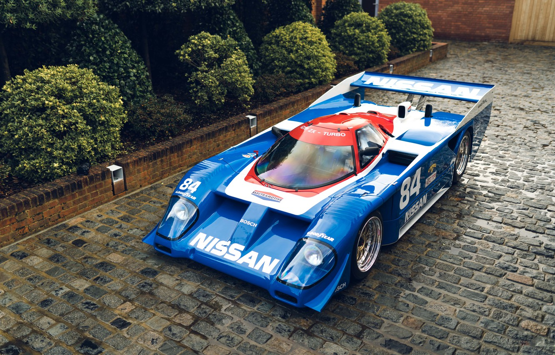 Фото обои car, листья, ретро, nissan, кусты, blue, retro, leaves