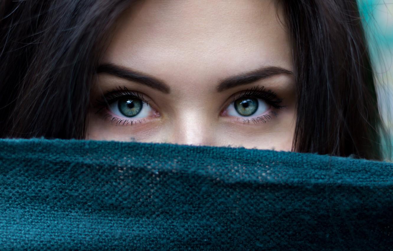 Фото обои green, wallpaper, girl, green eyes, brown hair, eyes, macro, model, beauty, color, hair, brunette, black …