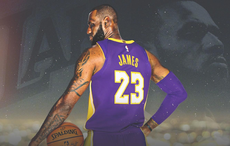 Фото обои James, Legend, NBA, LeBron James, Basketball, LeBron, Sport, American, Los Angeles Lakers, King, LA Lakers