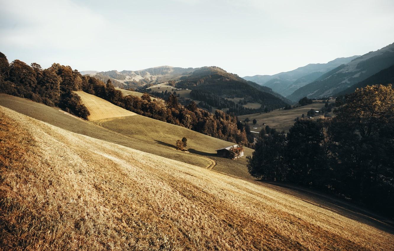 Фото обои горы, природа, дом