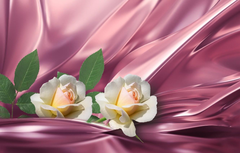 Фото обои silk, roses, bunch of flowers, still life closeup