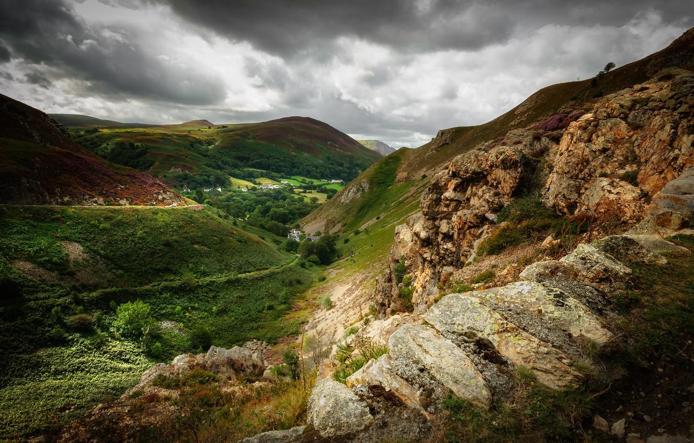 Фото обои Уэльс, North Wales, Sychnant Pass