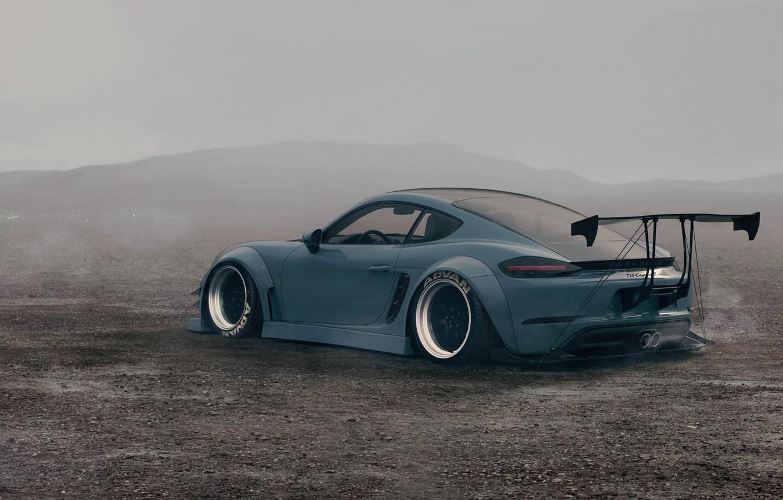 Фото обои Авто, Туман, Машина, Misty, Transport & Vehicles, Javier Oquendo, by Javier Oquendo, Porsche 718 Cayman