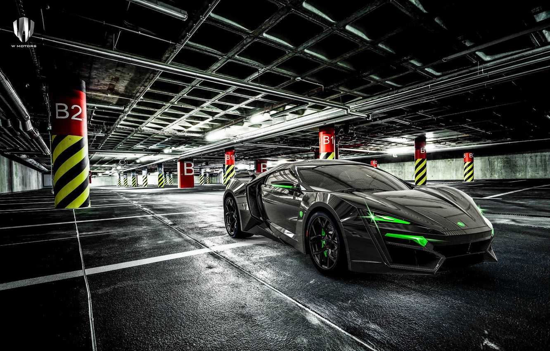 Фото обои Авто, Машина, Суперкар, Рендеринг, Concept Art, Спорткар, Паркинг, Lykan, Game Art, Transport & Vehicles, Benoit …