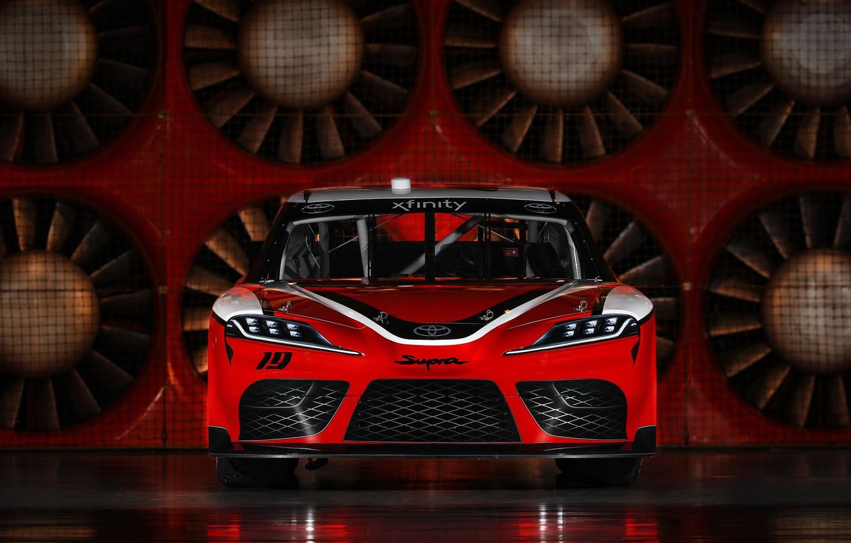 Фото обои гоночное авто, Toyota, вид спереди, Supra, 2019, Xfinity