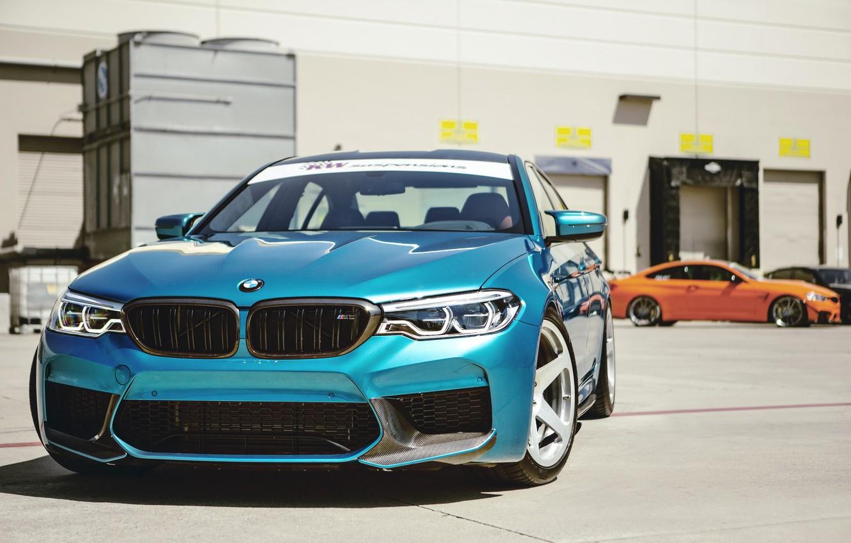 Фото обои BMW, Blue, Sight, LED, F90
