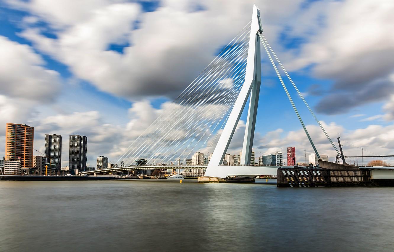 Фото обои мост, Нидерланды, Голландия, Роттердам