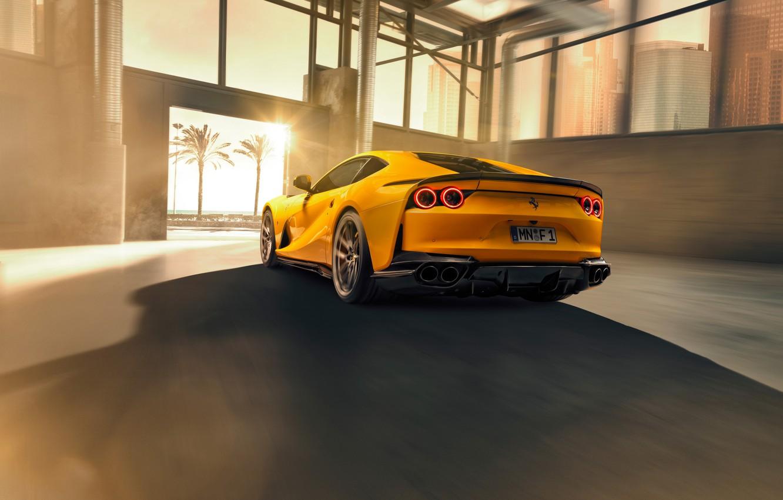 Фото обои машина, фонари, Ferrari, спортивный, Superfast, 812, by Novitec