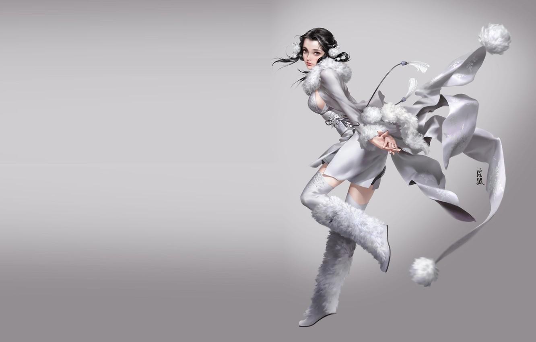 Фото обои аниме, арт, костюм, snow, mingzhu yang