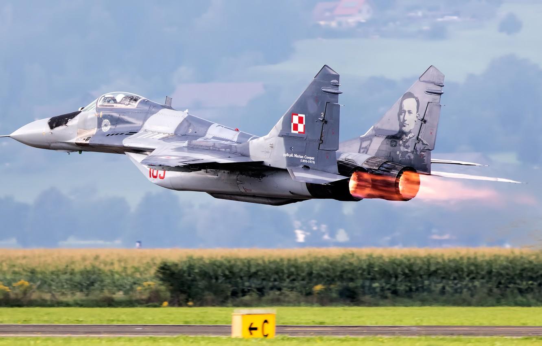Обои МиГ-29М, ВВС Польши, многофункциональный истребитель. Авиация foto 8