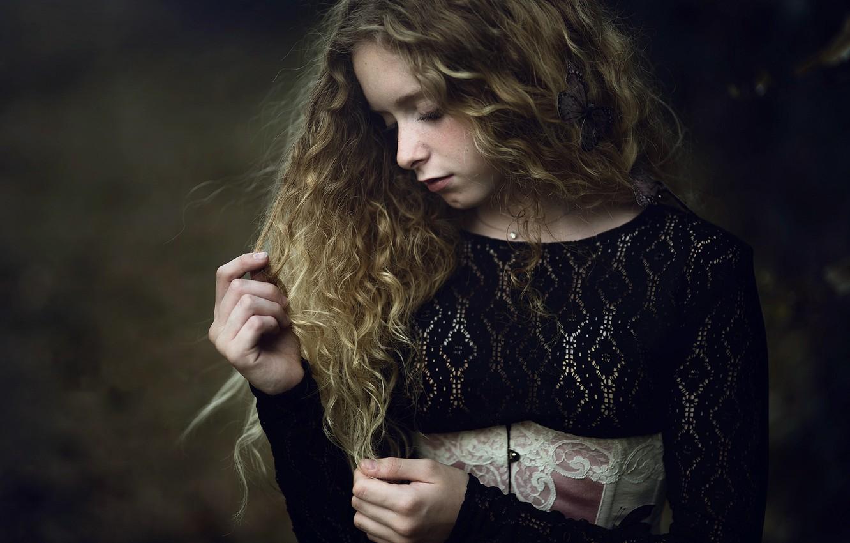 Фото обои портрет, девочка, Paola
