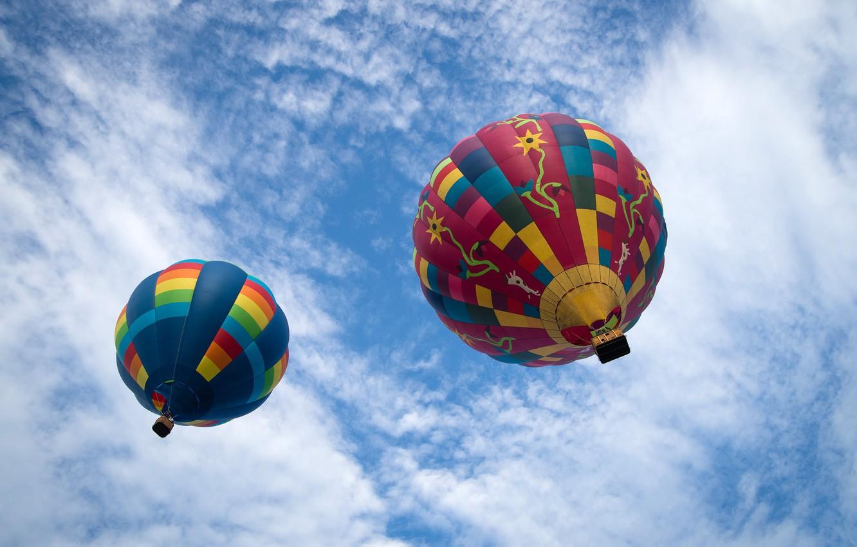 Обои воздушные шары, Облака, аэростаты, Монгольфьеры. Авиация foto 7