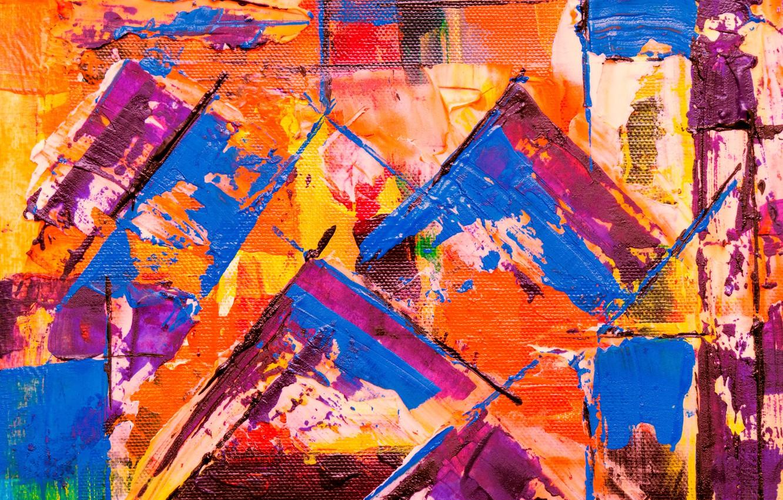 Фото обои линии, краска, холст, разноцветный, мазки