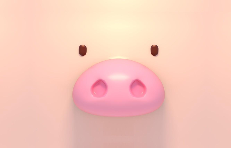 Фото обои рендеринг, pig, Tzuyu Kao
