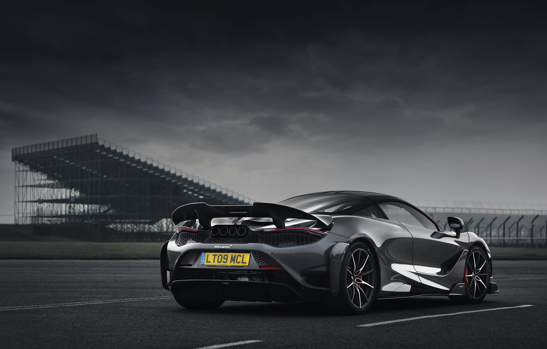 Фото обои серый, McLaren, боком, 2020, 765LT