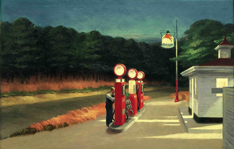 Фото обои 1940, Gas, Edward Hopper