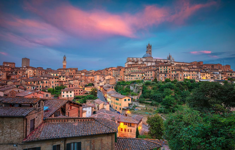 Обои тоскана, italy, крыши, Tuscany, сиена, здания. Города foto 6