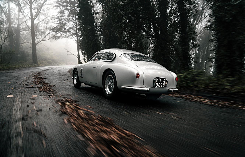 Фото обои Лес, Классика, Автомобиль, 1956, Maserati A6G 2000 Berlinetta