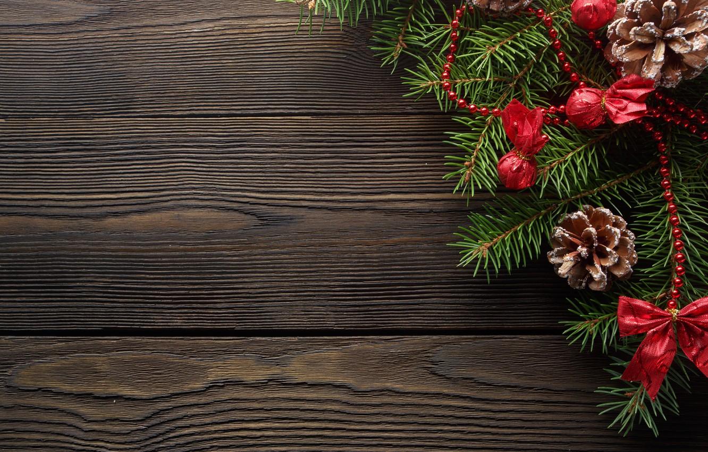 Фото обои украшения, Новый Год, Рождество, Christmas, wood, New Year, decoration, xmas, Merry, fir tree, ветки ели