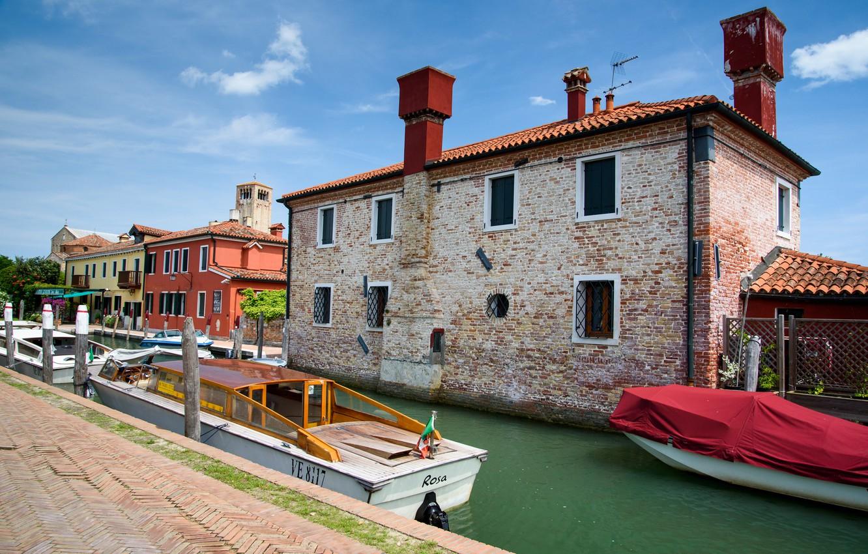 Обои Ступени, дома, венеция, лодка, утро, канал. Города foto 18