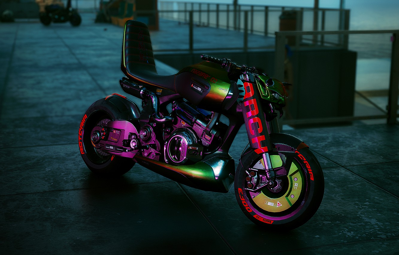 Фото обои игра, байк, киберпанк, CD Projekt RED, Cyberpunk 2077