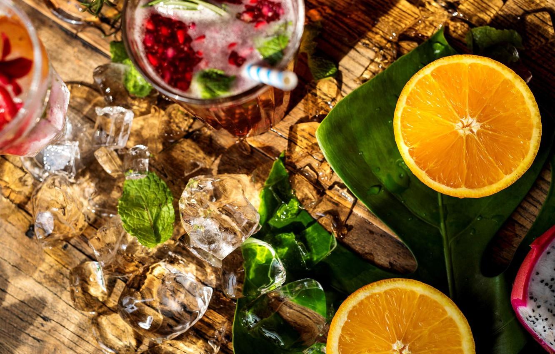 Обои напиток, стол, фрукты, цветы, фрукт дракона, апельсин, арбуз. Еда foto 11