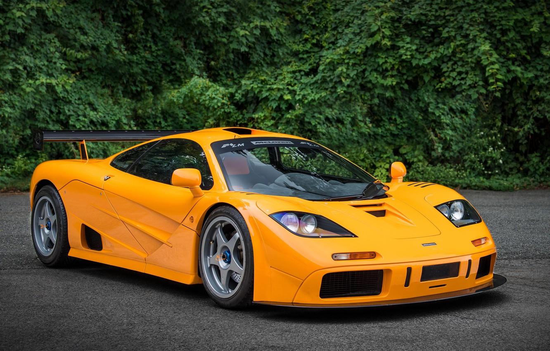 Фото обои Orange, Supercar, McLaren F1, 1995, LM