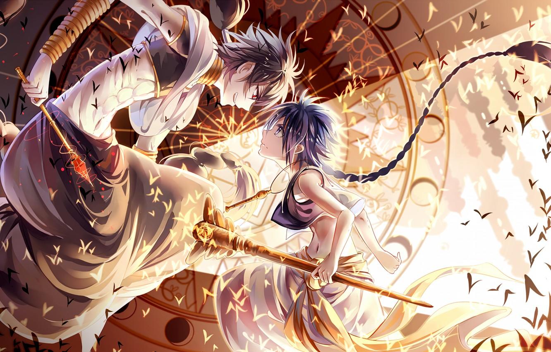 Фото обои yellow, art, fight, boys, anime Wallpapers, japaese, anime boys, animemanga