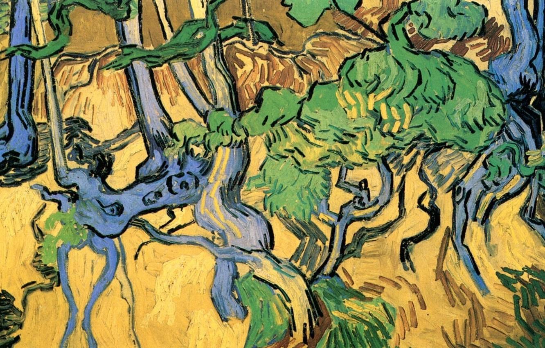 Обои масло, картина, Винсент ван Гог, Деревня Вечером. Разное foto 18