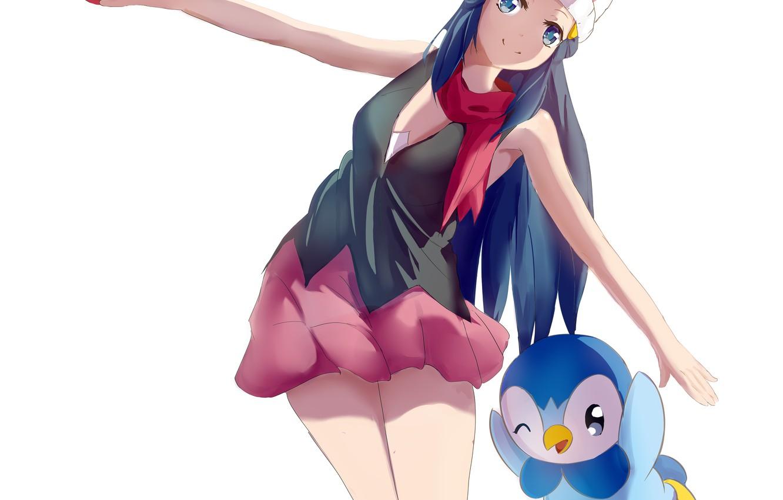 Фото обои девушка, Покемон, Pokemon, покбол