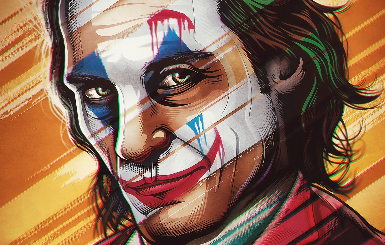 Обои улыбка, арт, Джокер, art, Joker, poster, Joaquin ...