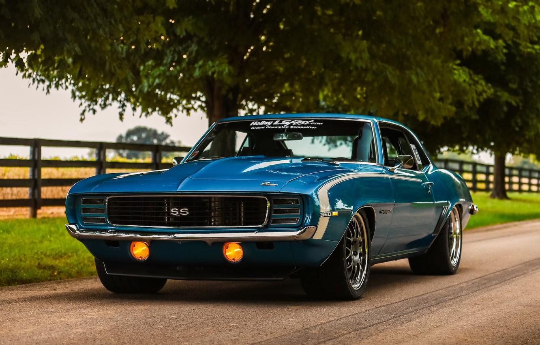 Фото обои Chevrolet, Camaro, Wheels, '69, Forgeline, GW3