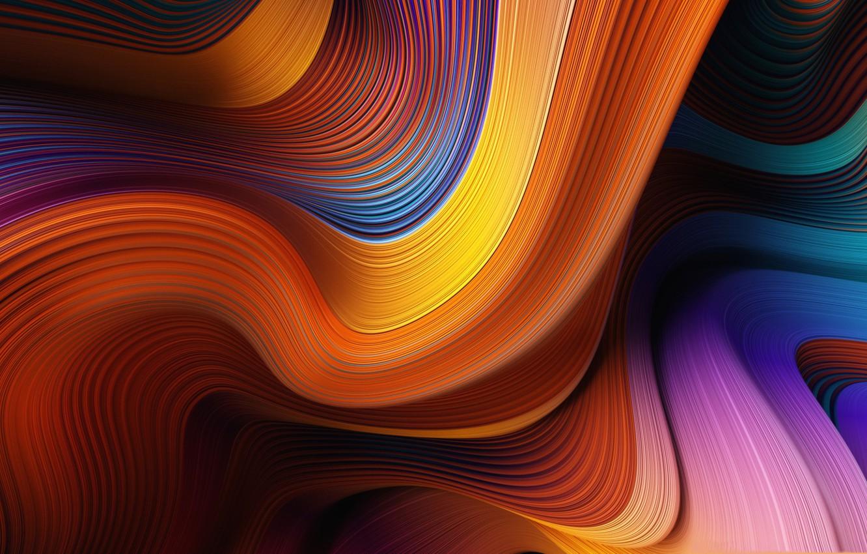 Фото обои линии, узор, краски, волна, объем