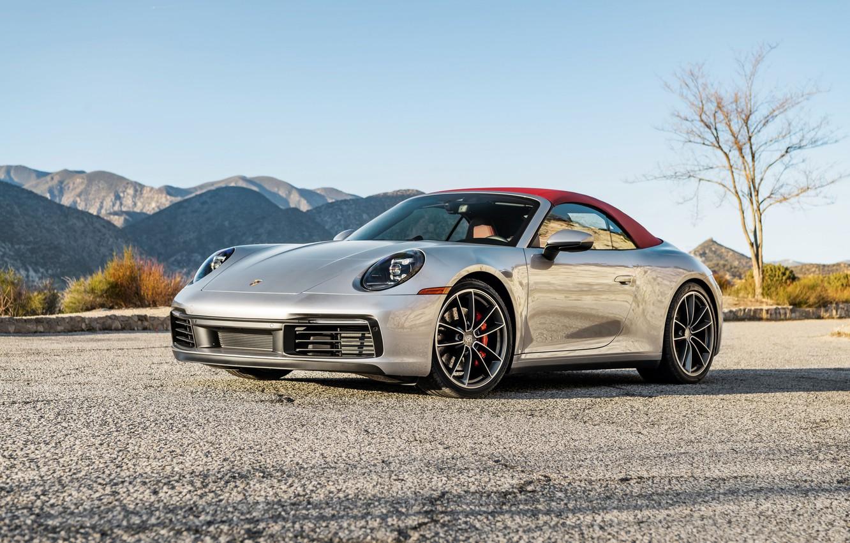 Фото обои 911, Porsche, Carrera, Cabriolet, 2020, S