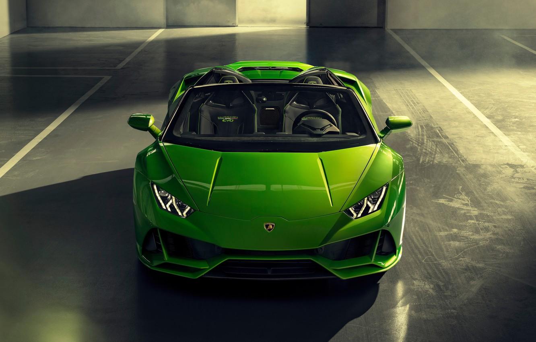 Фото обои машина, Lamborghini, оптика, спорткар, Spyder, Evo, Huracan